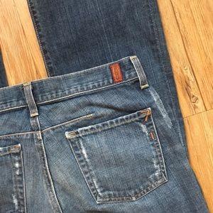 7FAMK Stovepipe Bootcut Jeans sz 27